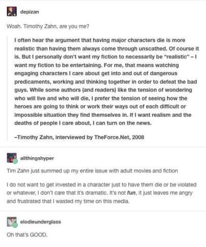 Timothy Zahn on Realism